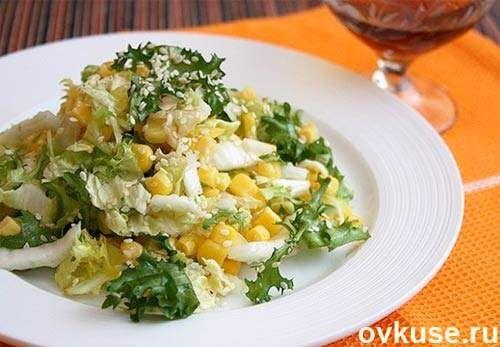 Салат с кукурузой (постное блюдо)