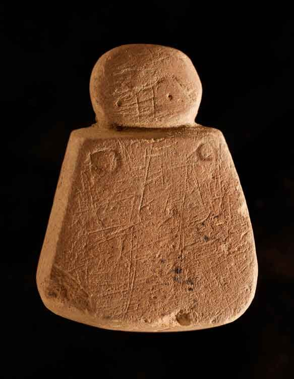'Orkney Venus' - a stone figurine (3.5cm by 3cm) found during 2009 excavations at Links of Noltland in Orkney (Scotland). © Crown Copyright reproduced courtesy of Historic Scotland. www.historicscotlandimages.gov.uk