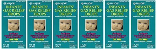Newborns, Infants & Children Gas Relief Simethicone 20 mg/0.3ml Drops Dye Free Generic for Mylicon 1 oz (30ML) Total 6 oz by Major Pharmaceuticals