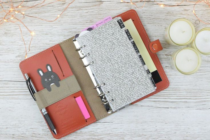 Filofax Personal Original Burnt Orange | Home Planner | Planner Set Up
