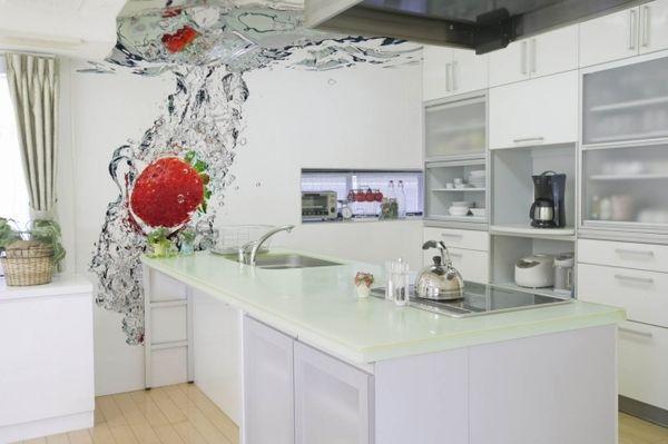 Картинки по запросу фотообои для кухни цветы