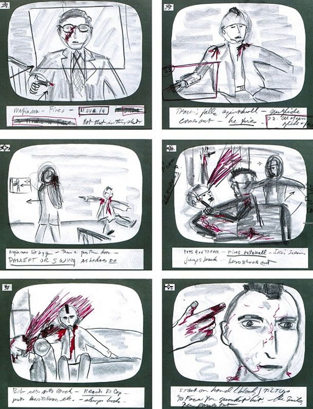 Martin Scorsese Taxi Driver Storyboards