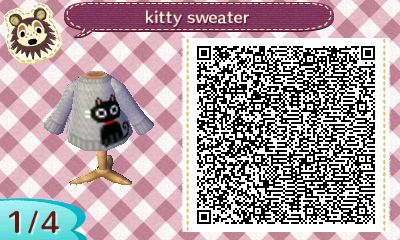 """mayorsiobhanofmaple: """" QR for the kitty sweater that was in the background of one of my other photos. I am very sorry for not catching all the messages requesting this! """""""