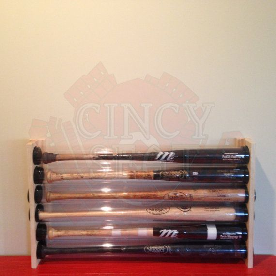 5 Baseball Bat Display Holder Rack  Wall Mount  Holds by 2Markers