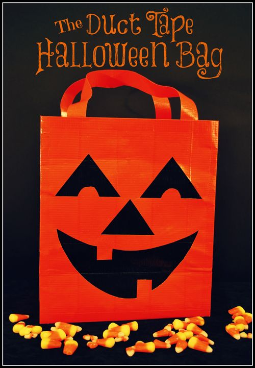 Duct Tape Halloween Bag - Halloween Duct Tape is on sale through the end of October at School House. While Supplies Last!
