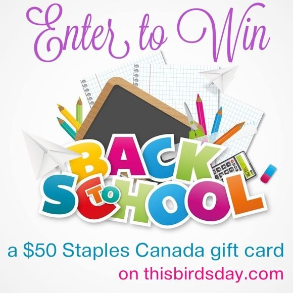 Enter to win: $50 Staples Canada Gift Card