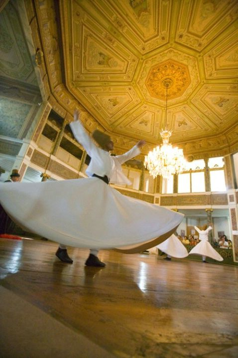 whirling dervishes, istanbul, turkey