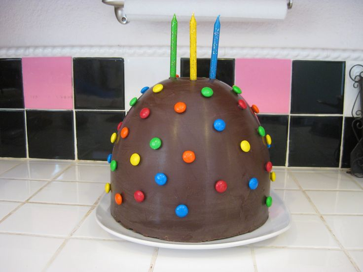 How to Make a Pinata Cake! Specifically how to make the Chocolate Dome Shell to set over a cake, candies, or toys, to be smashed opened.