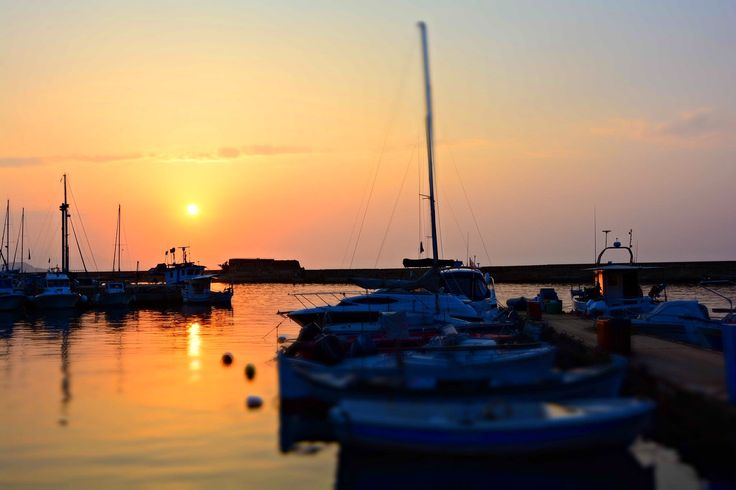 Walking around the port, enjoying the #sunset! #Chania #summer