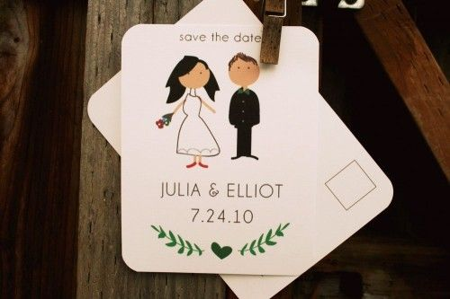 my little buffalo illustrated save the date