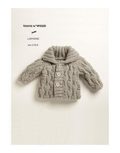 Modèle Veste W020 Cheval Blanc - Patron tricot gratuit