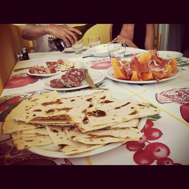 Piadina dinner made by Chef @n_montemaggi. #piadinaville #rimini - Instagram by @keaneiscool