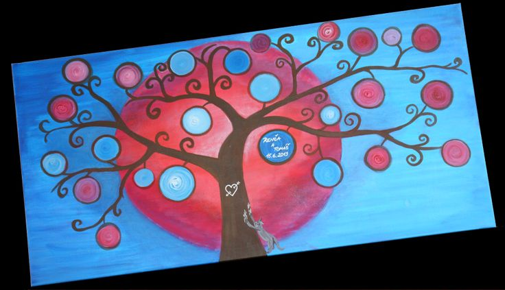 Wedding tree/Svatební strom 100x50 cm