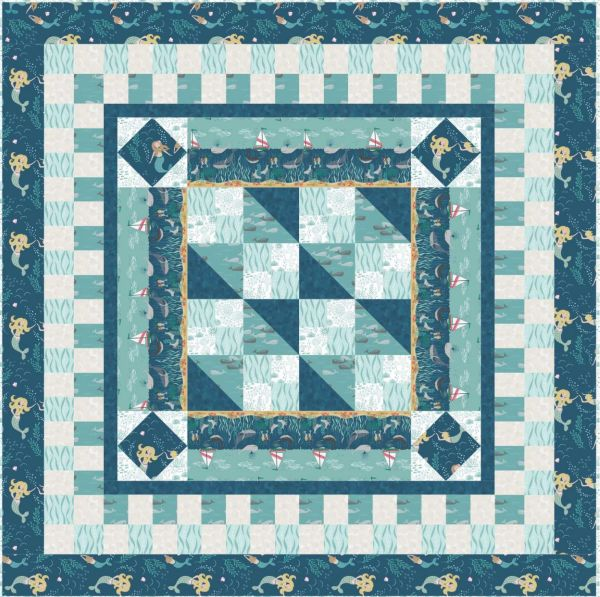 Quilt 1 Tales of the sea Lewis & Irene Designed and made by Sally Ablett