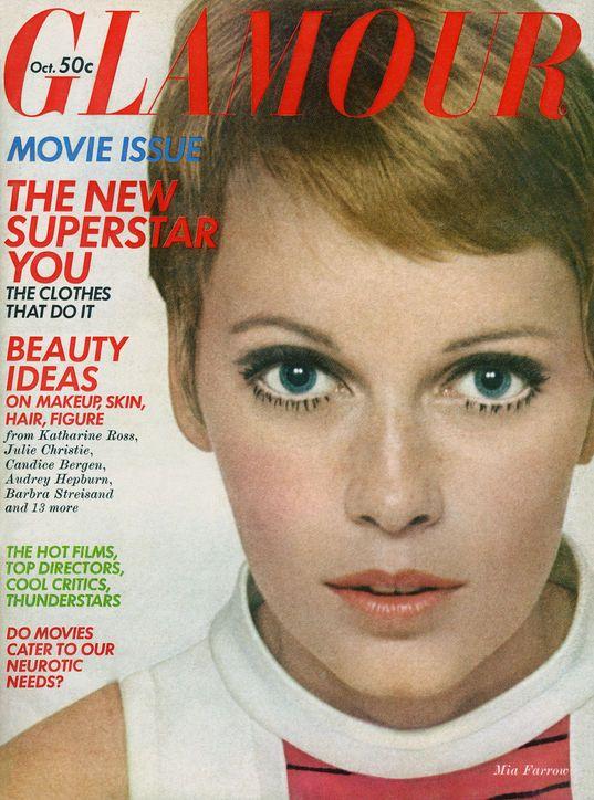 October 1968 cover with Mia Farrow