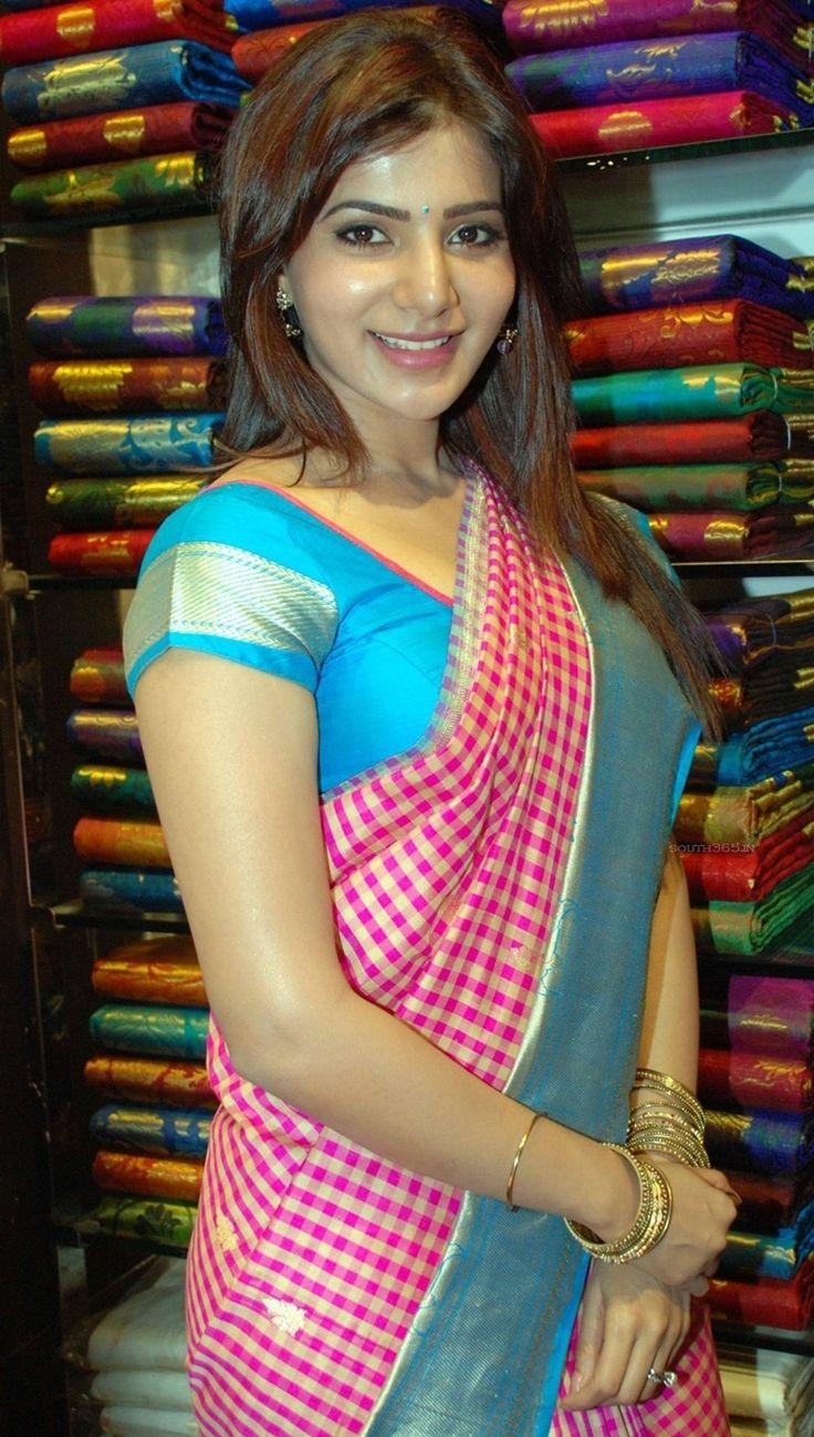 Samantha Ruth Prabhu in Saree At Kalanikethan Fashion Malll (6) at Samantha Ruth Prabhu Stills From Mall  #SamanthaRuthPrabhu