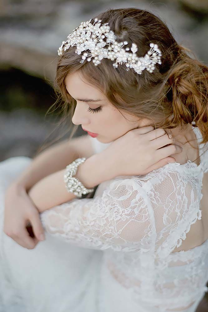 Bridal Hair Accessories To Inspire Your Hairstyle ❤ See more: http://www.weddingforward.com/bridal-hair-accessories-to-inspire-hairstyle/ #weddings