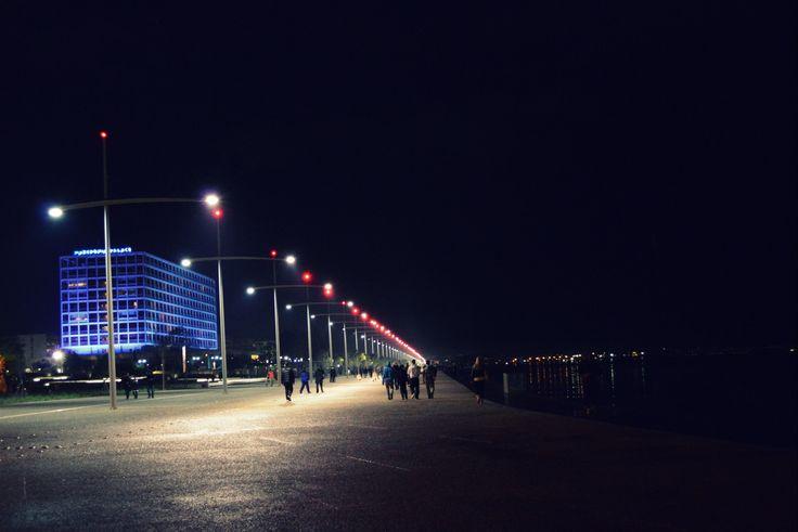 A night walk.
