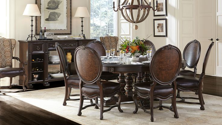 sets round tables side chairs dining tables dining rooms british style