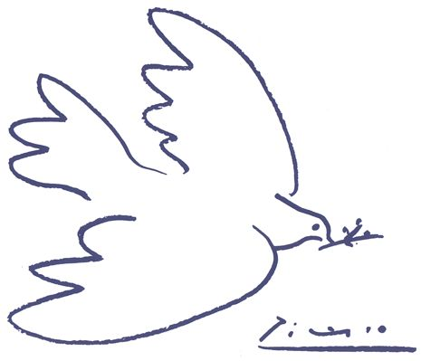 """Picasso """"Peace"""" - The simplicity of this symbol of peace by Pablo Picasso, remains one of the most powerful pieces of art."""