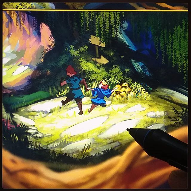 Working on a forest scene :3  #webcomic  #digitalart #drawing  #instaartist #artwork #emery #tapas #teteotolis