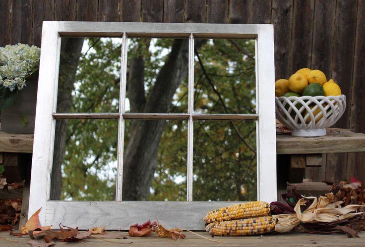 Silver gilded window frame mirror, antique silver mirror, silver framed mirror, handmade mirror, wall decor, silver mirror, home decor by CardinauxCraftsman on Etsy