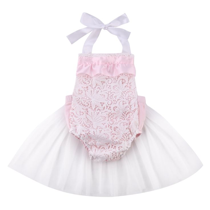 >> Click to Buy << High Quality Cute Newborn Baby Girl Pink Lace Flower Tulle Halter Romper Outfits Belt Sunsuit Dress #Affiliate