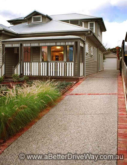 We've also been able to use broom finishes as just borders in and around a stamped concrete driveway. So ...