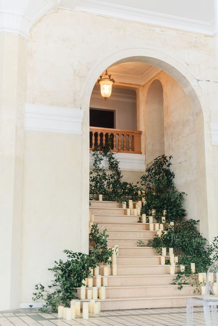 for #your #wedding, #you #could #think #of #decorating #the #stairs #with #a #lot #of #greene...
