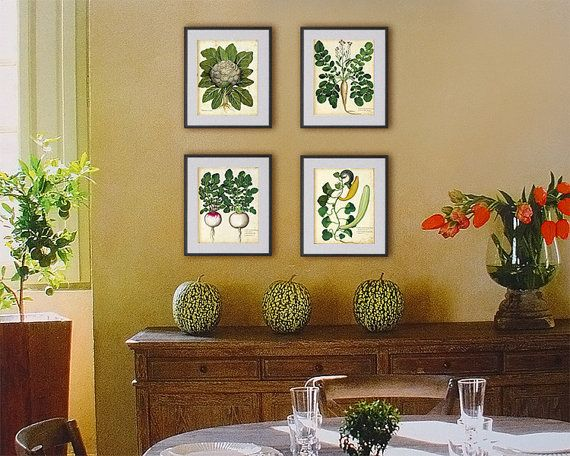 Set of 4 lovely prints of vegetables for price by RoyalArtPrints