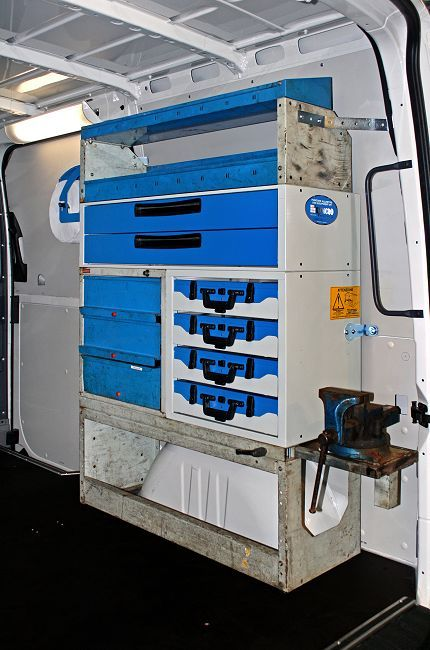 Syncro System Van Racking Used For Sprinter Van Conversion