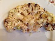 Grilled Cauliflower Steaks  (And a recipe for Montreal Steak Seasoning.)