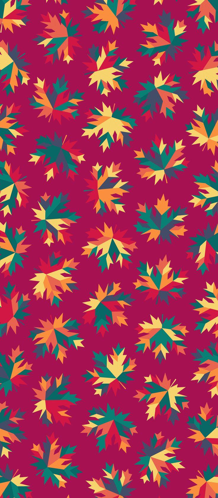 Russfussuk 'Sharp Maple' Pattern M3A #pattern #patterndesign #patternprint #maple #autumn #fall #leaf #leaves #generative #otoño #cadernos #padrões