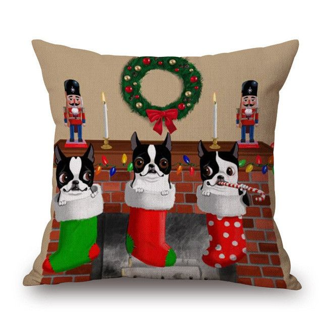 Want to be the first one to have it?   Shop New Arrivals at  http://www.erynhome.com/products/merry-christmas-socks-french-bulldog-animal-decorative-throw-pillow?utm_campaign=social_autopilot&utm_source=pin&utm_medium=pin  Merry Christmas S...