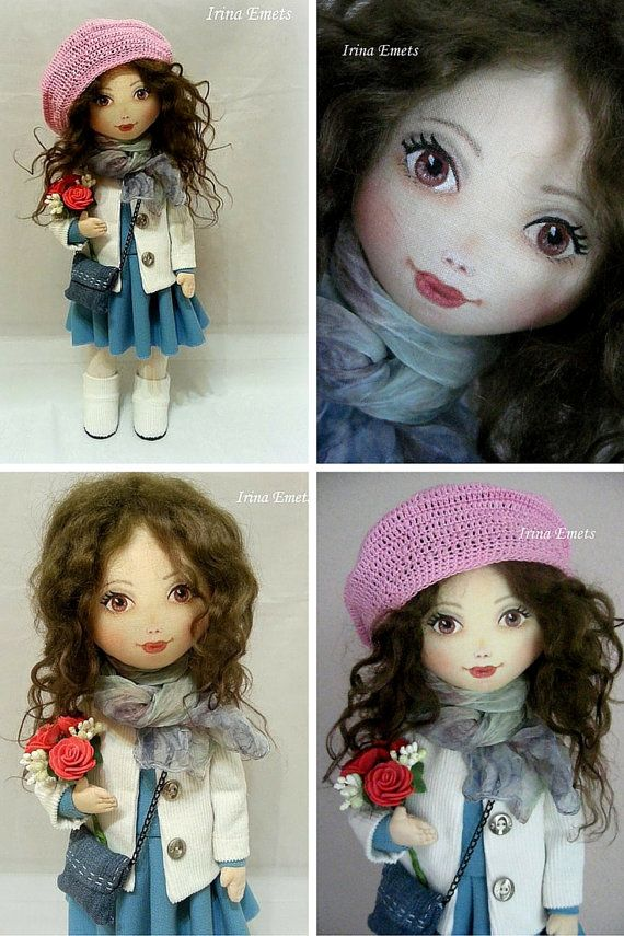 Interior decor doll Handmade doll Fabric doll by AnnKirillartPlace