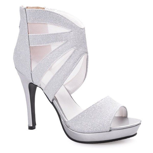 Trendy Women\'s Sandals With Platform and Gauze Design from 38.50$ by SAMMYDRESS