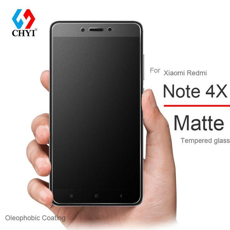Chyi matte layar kaca tempered untuk xiaomi redmi note 4x Protector 5.5 inch Catatan 4 Lapisan Oleophobic 2.5D Kaca Buram Film