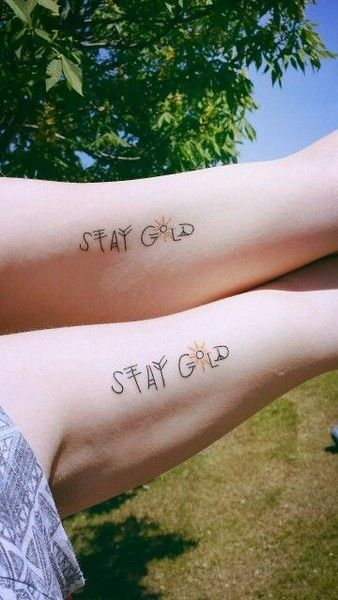 Stay Gold, Ponyboy - Quirky and Unique Literary Tattoos Perfect for Bookworms - Photos