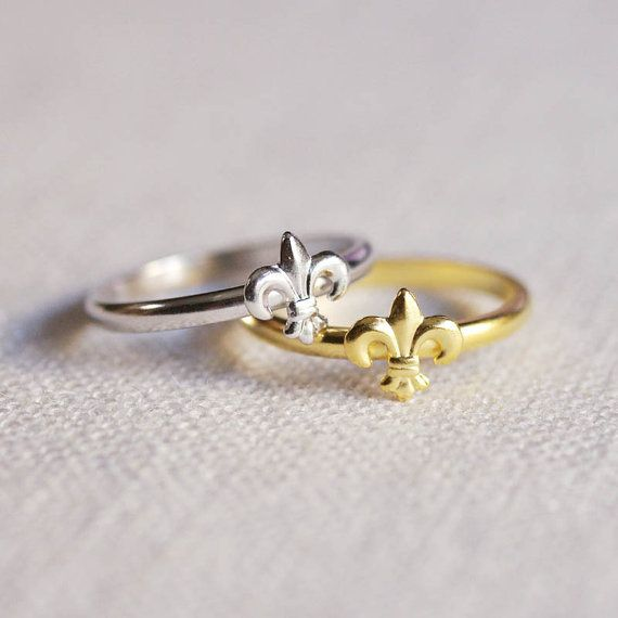 Hey, I found this really awesome Etsy listing at https://www.etsy.com/listing/75379741/fleur-de-lis-stacking-ring
