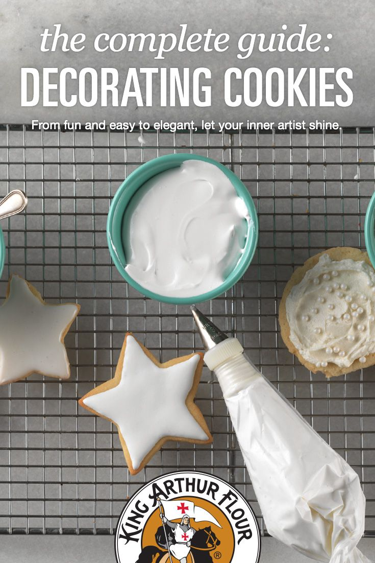 Our detailed cookie decorating guide covers cookie recipes, selected icings, and key techniques for creating your most creative, beautiful cookies ever.