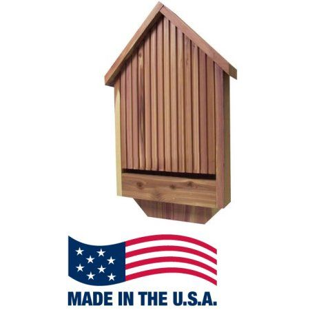 Deluxe Cedar Weather Resistant Bat House for Bat Watching and Mosquito Control, Brown