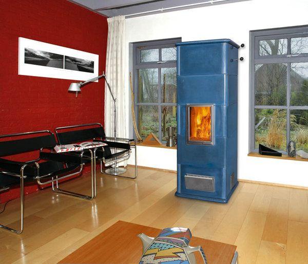 Tigchelaar Tigchelkachel 8D blauw - UW-haard.nl
