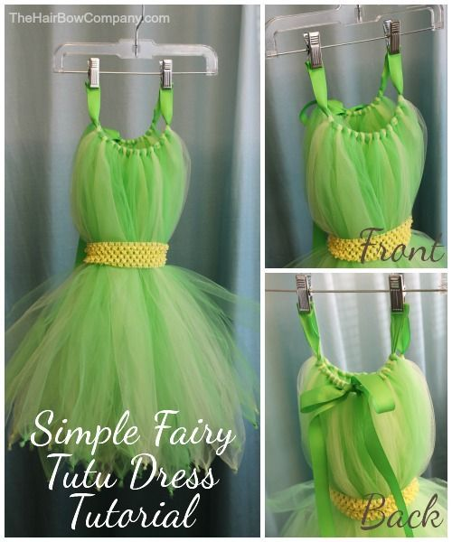 Fairy Tutu Dress Tutorial. A Halloween idea for women as well!