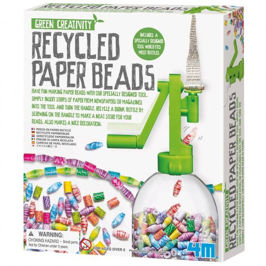 4M Recycled Paper Beads Craft Kit - Adults   Australian Geographic Shop Online