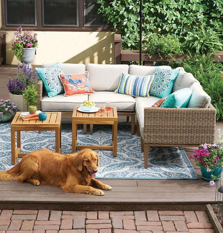 Better Homes Gardens Davenport 7 Piece Woven Outdoor Sectional Set Walmart Com Patio Furniture Layout Patio Decor Backyard Furniture