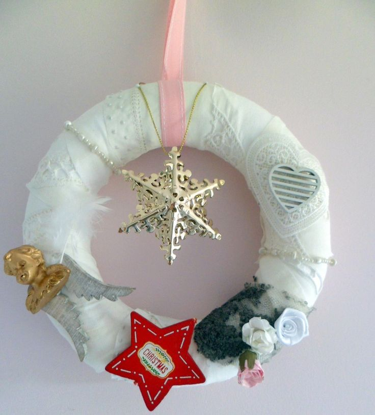 """Couronne de Noël """"étoile du berger"""" ,décoration de Noël,fabrication artisanale .Création unique fait main."""
