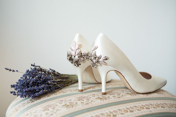 Harriet Wilde shoes with silver and diamante flowers decorating the heels | Photography http://www.lucydavenport.co.uk/