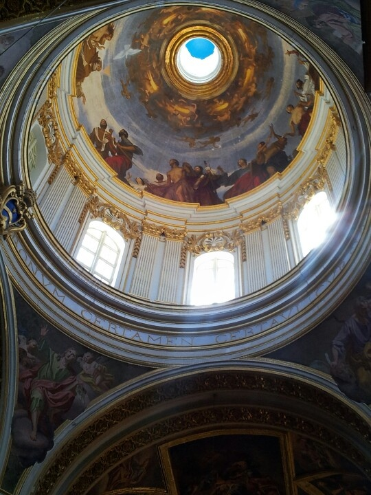 The dome of St Paul's cathedral in Mdina