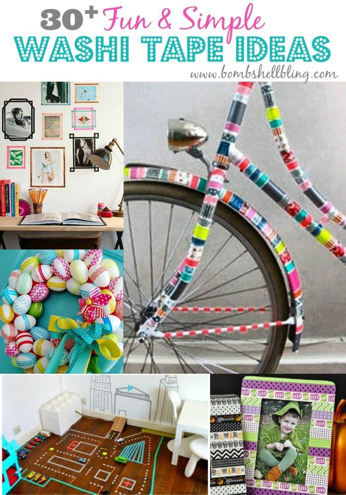Washi Tape ideas GALORE!  Love it!