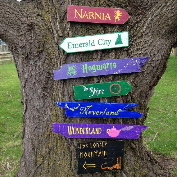 Pack de 7 madera señales direccionales - elegir 7 signos de nuestra tienda
